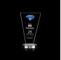 Wholesale Hot Selling Custom Fashion Blue Diamond Stereo Blue Crystal Trophy Award
