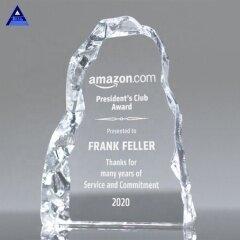 New Wholesale Cheap Custom Iceberg 2D 3D Crystal Award For Engraved