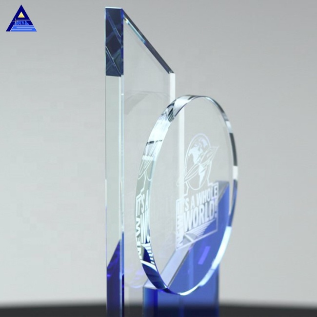 New Customized Design Clear Dedication Award Trophy For President Gifts