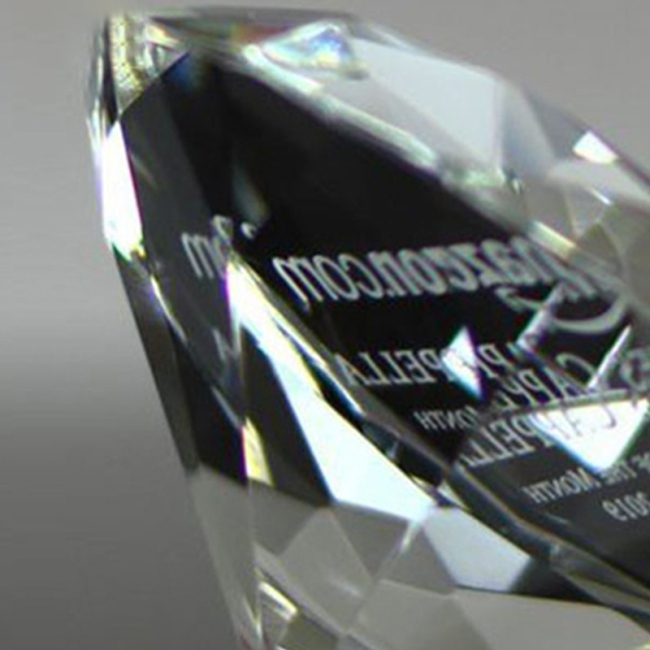 Engraving Large Paper Weights China Trophies For Wholesale Glass Award 3D Block Shape Cubes Crystal Diamond Trophy