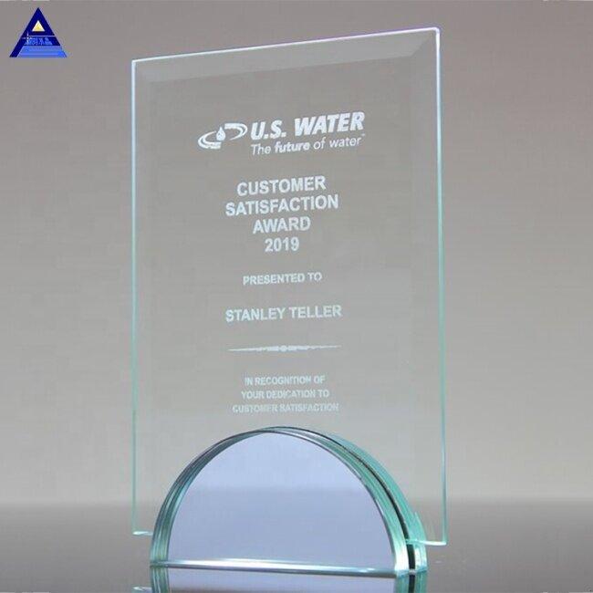 Customize Various Shapes Large Jade 3D Award Crystal Trophy