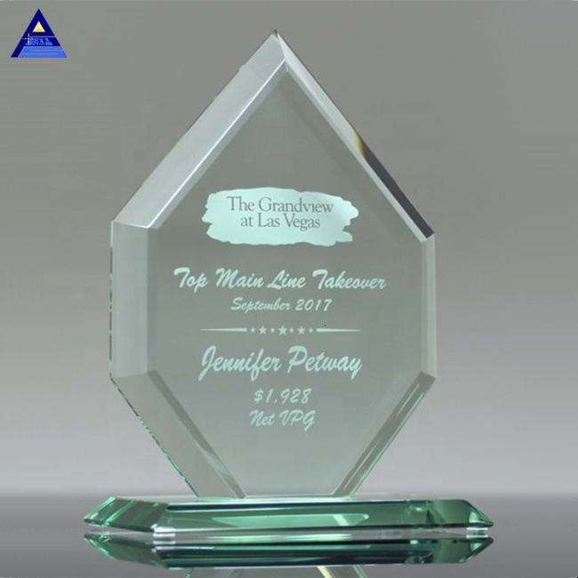 Factory Price Decorative Jade Crystal Circle Award Souvenir Business Gift Set