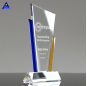 Beautiful Corporate Award Crystal Plaques Assorted Yellow Glass Color Trophies