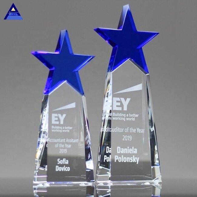 Factory Wholesale  Meteor Star Award Trophy Crystal Star Trophy Maker