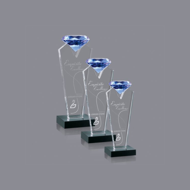 Crystal Award for Wholesale 2020 New Fashion Metal Base StereoscoBusiness Achievementpic