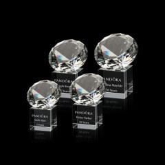Wholesale custom red K9 three-dimensional decoration clear transparent diamond crystal award