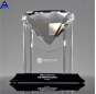 Big Facet Shape Single Glass Crystal Diamond Award Trophy with LOGO Engraving