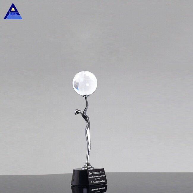 Global Celebration Figurine Crystal Award Trophy