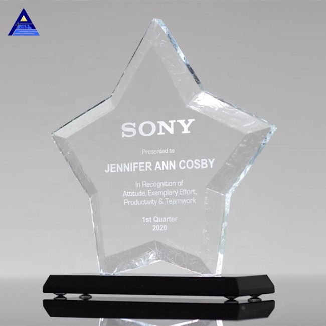 High Quality New Design K9 Star Top Crystal Awards For Season Sports Prize