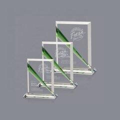 Latest Design Promotional Unique Shape Sublimation Blank Crystal Trophy Plaque For Custom Medal