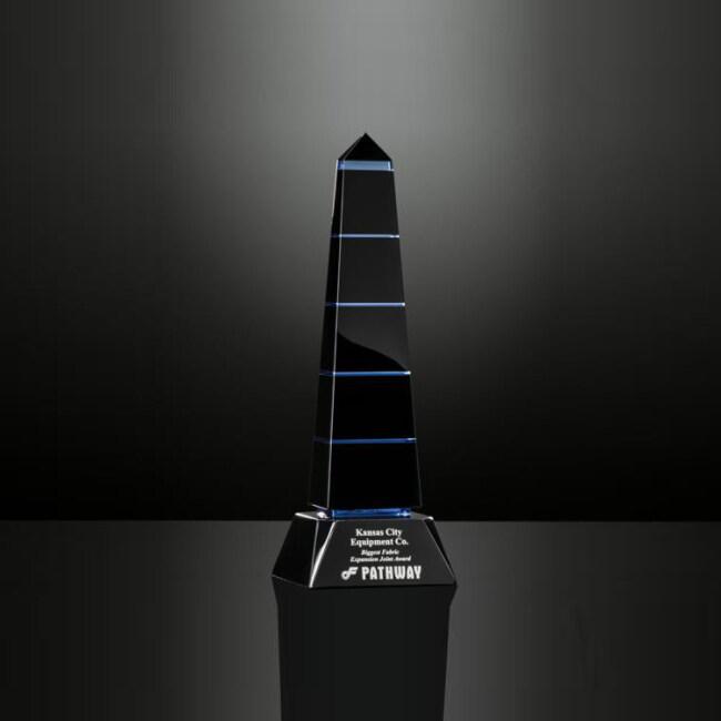 Popular Crystal Obelisk Trophy Block Ornament Souvenirs TV Movie Games Crystal Awards Plaque