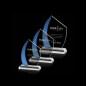 Custom Quality Free Engraving Logo Bevel K9 Crystal Cube Glass Engraved Awards