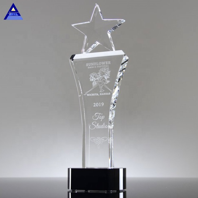 Wholesale Star Shaped Glass Paperweight For Souvenir Gifts