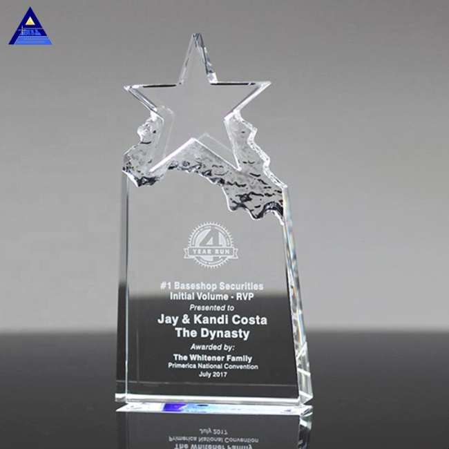 New Welcome Popular Crystal Star Trophy For Mountain Bike Souvenir MOQ 1Pcs