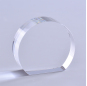 3D Laser Engraved Round Shape Crystal Paperweight Stand For Employee Award