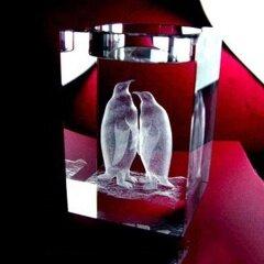 Hot tea lamp holder 3D laser engraving crystal penguin