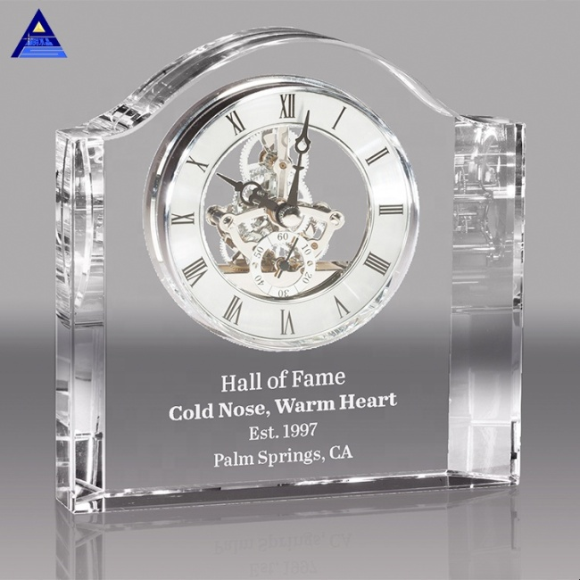 Wholesale Cheap Fashion Wedding Favor Crystal Desk Clock Gift For Guest Giveaway Souvenirs