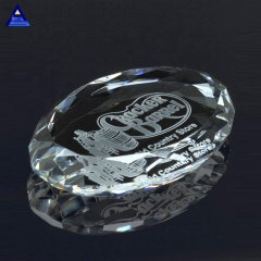 Wholesale Faceted Multifaceted Dome Clear Blank Glass Paperweight