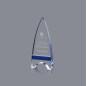 Minaret shape crystal glass awards trophies cheap glass awards blank glass crystal awards plaque