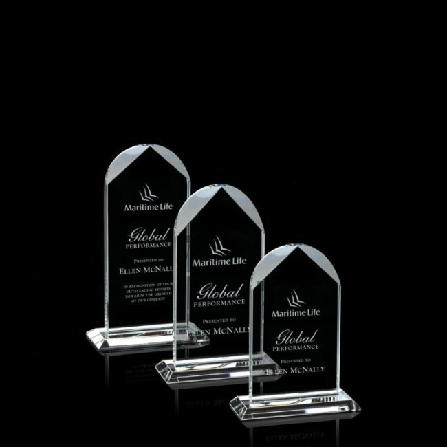 2020 Factory Price Glass Trophy Plaque Blank Crystal Glass Trophy For Laser Engraving