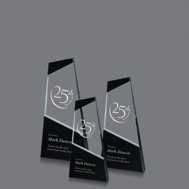 Pujiang Factory Cheap Blank Laser Engraving Crystal Glass Award Trophy Plaque Trophy