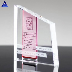 2019 Wholesale Stock Sales Cheap Chroma Amber Crystal Award Trophies