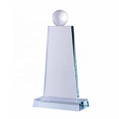 High Quality New Style Custom Crystal Golf Ball Trophy Awards Plaque With Cheap Price