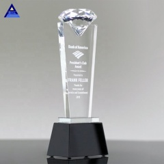 High Quality Crystal Diamond Shape Custom Theme Crystal Trophy For Sale
