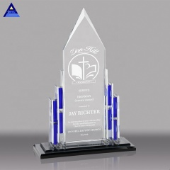 Wholesale Cheap Price Student Sport Match Jade Glass Crystal Trophy