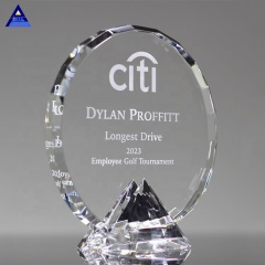 Hot Fashion Custom Engrave Clear Crystal Diamond Award Trophy
