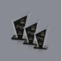 Wholesale China Factory 3D Glass Obelisk Trophy Color Black Crystal Award With Company Logo