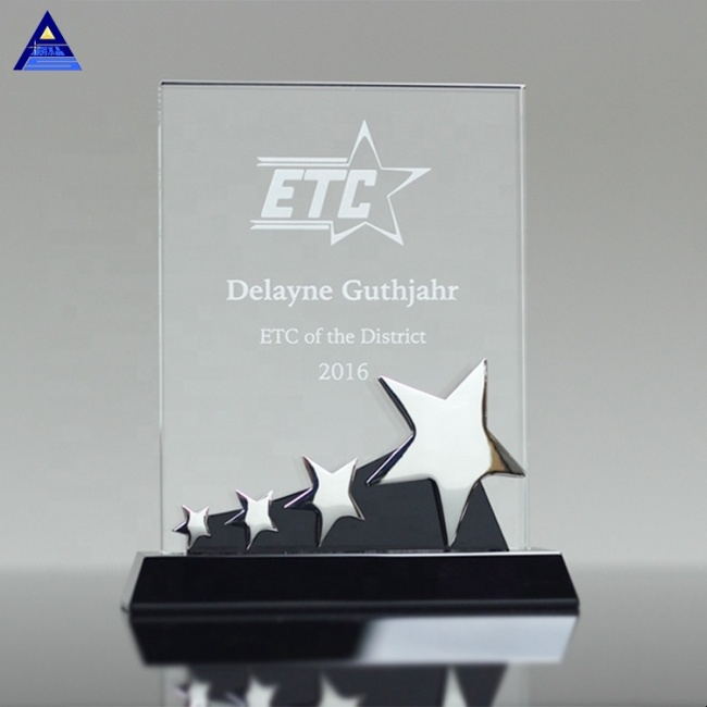 Factory Wholesale 3D Laser Crystal Trophy Constellation Star Plaque Trophy