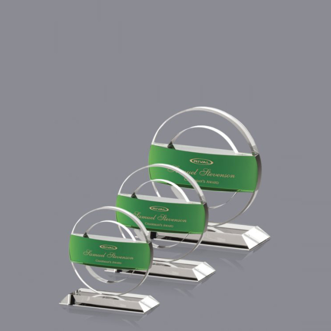 China Wholesale Websites New Custom Wedding Gift Circle Business Awards Muslim Crystal Plaque