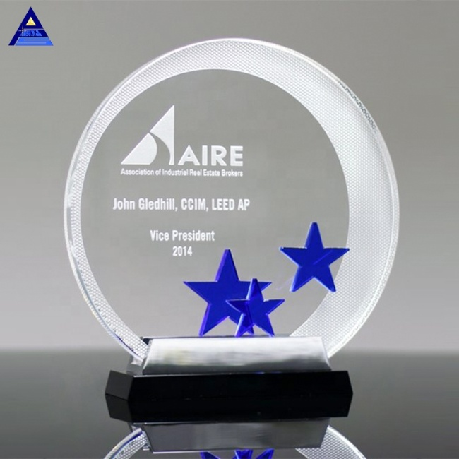 2019 Popular K9 Crystal Trophy Star Award For Business Gift