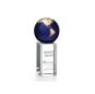 Luz Globe Award - Blue  Globe Commemorative Glass Crystal Ball Awards And custom Trophies