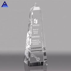 Wholesale Unique Company Anniversary Souvenir Crystal Trophy Gift With Good Price