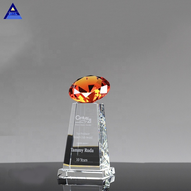 Wedding Decorations New Products Wedding Glass Crystal Large Diamond Award