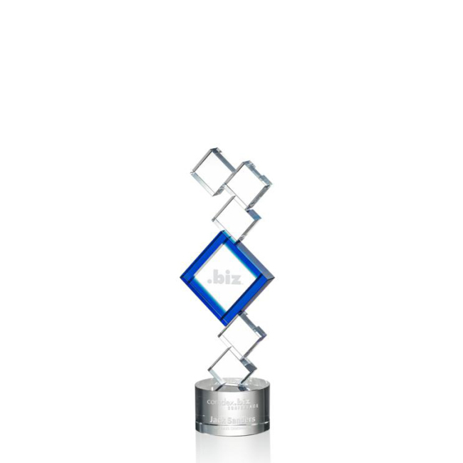 China Supplier Quality diamond cheap cup promotional crystal cube crystal trophy