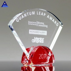 Factory Wholesale Custom Unique Luxury Radiant Ruby Crystal Trophy