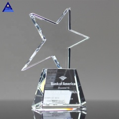 2019 Newest Products Ideas Glass Crystal Awards Trophies Star For Festival Souvenir