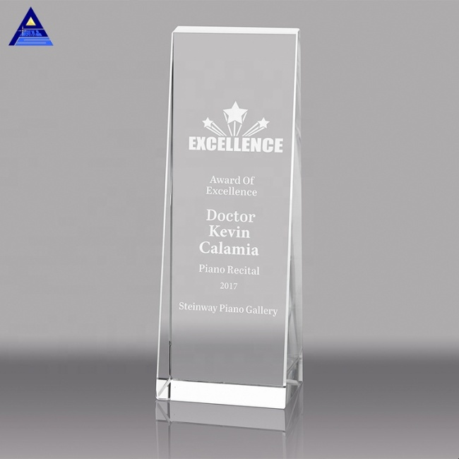 2020 Cheap Wholesale High-Quality Color Printing K9 Blank Crystal Glass Trophy Award