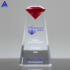 Noble Custom Made Design Essence Red Crystal Diamond Award