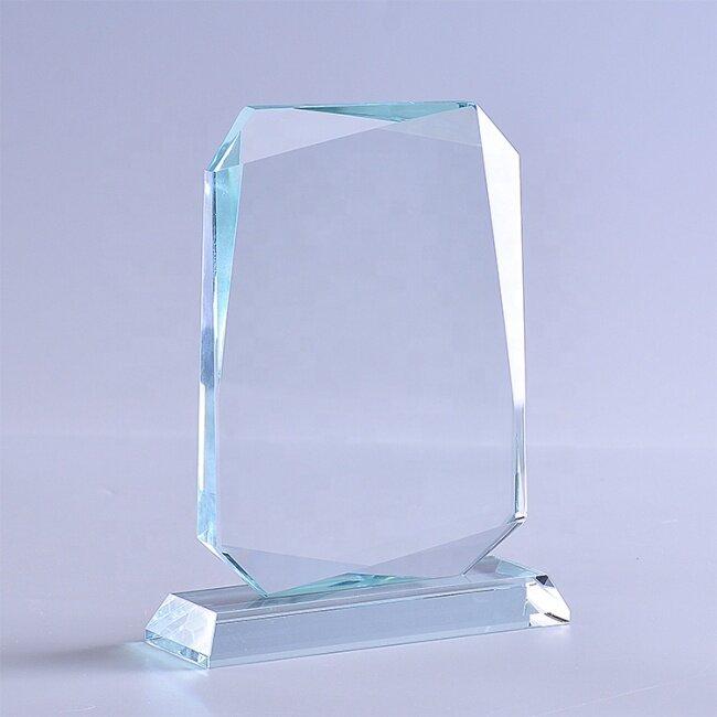 Custom Quality 3D Engrave Blank glass K9 Crystal Trophy/Award/Plaque/Trophy