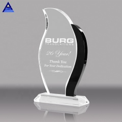 Wholesale Cheap Custom Clear Music Award Crystal Glass Trophy With Engraved Logo