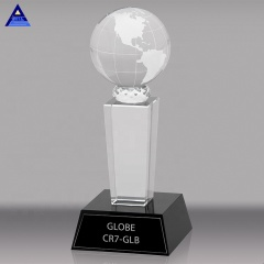 Fashion Soccer Basketball Table Tennis With Custom Logo Printed Crystal Trophy Awards