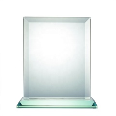Wholesale Customize Jade Glass Imperial Award Square Plaque Trophy For School Award Gifts