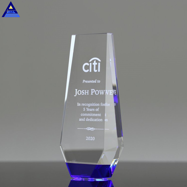 Promotional Wholesale Custom Design Engraved Optic Crystal Award