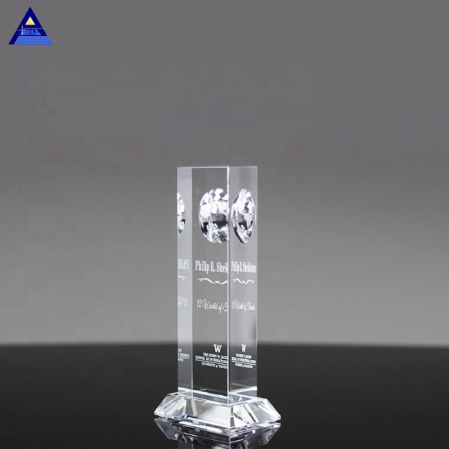 High Quality Popular The Vision World Globe Crystal Paperweight