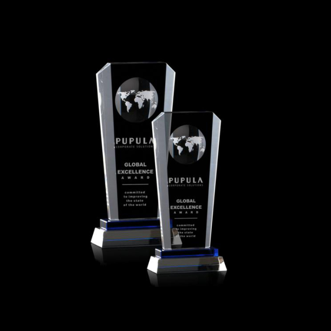 Inglefield Globe Tower Award  crystal trophy custom wholesale trophy manufacture with engraved logo