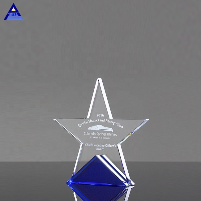 New Design High Quality Cheap Optical Crystal Star Towers Award Trophy